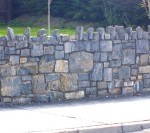 Stone wall constructed by Droughill Builders Laois